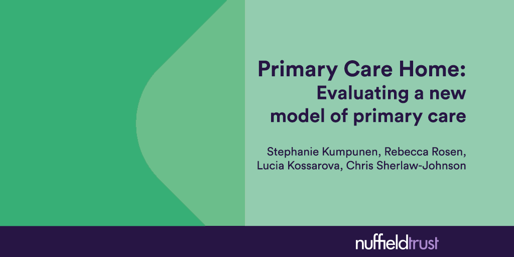 Primary Care Home: Evaluating a new model of primary care | The
