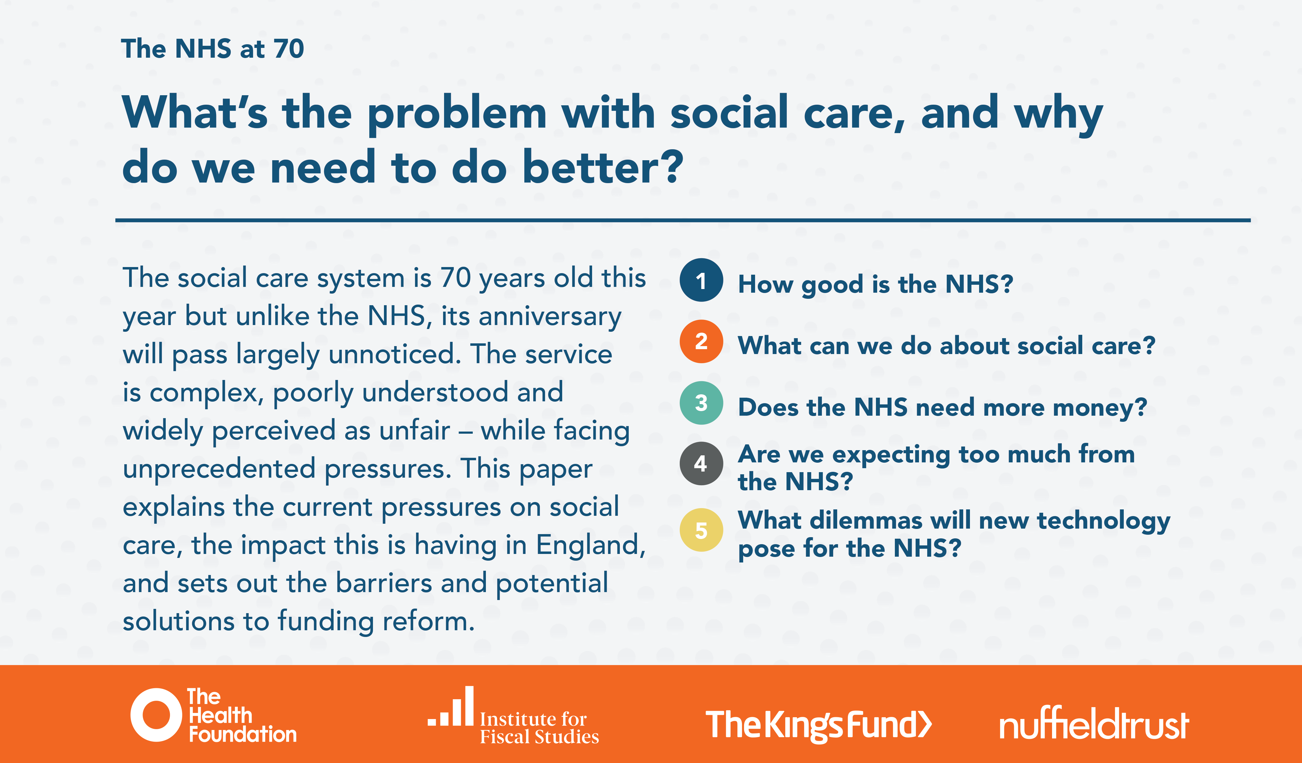 92d86ba1a87 The NHS at 70  What s the problem with social care