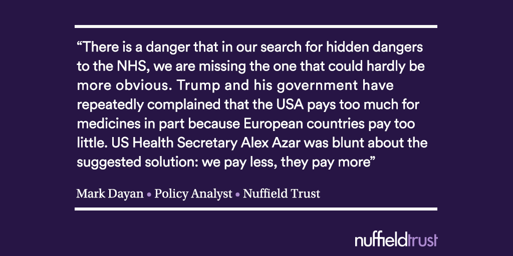 Could the NHS be the price of a US trade deal? | The